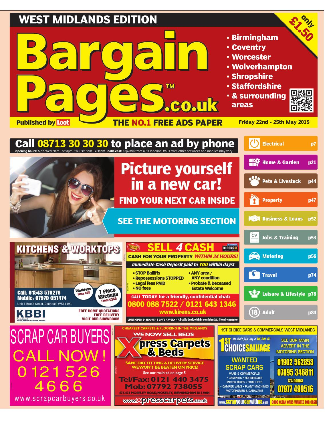 Bargain Pages West Midlands May 22nd 2015 By Loot Issuu