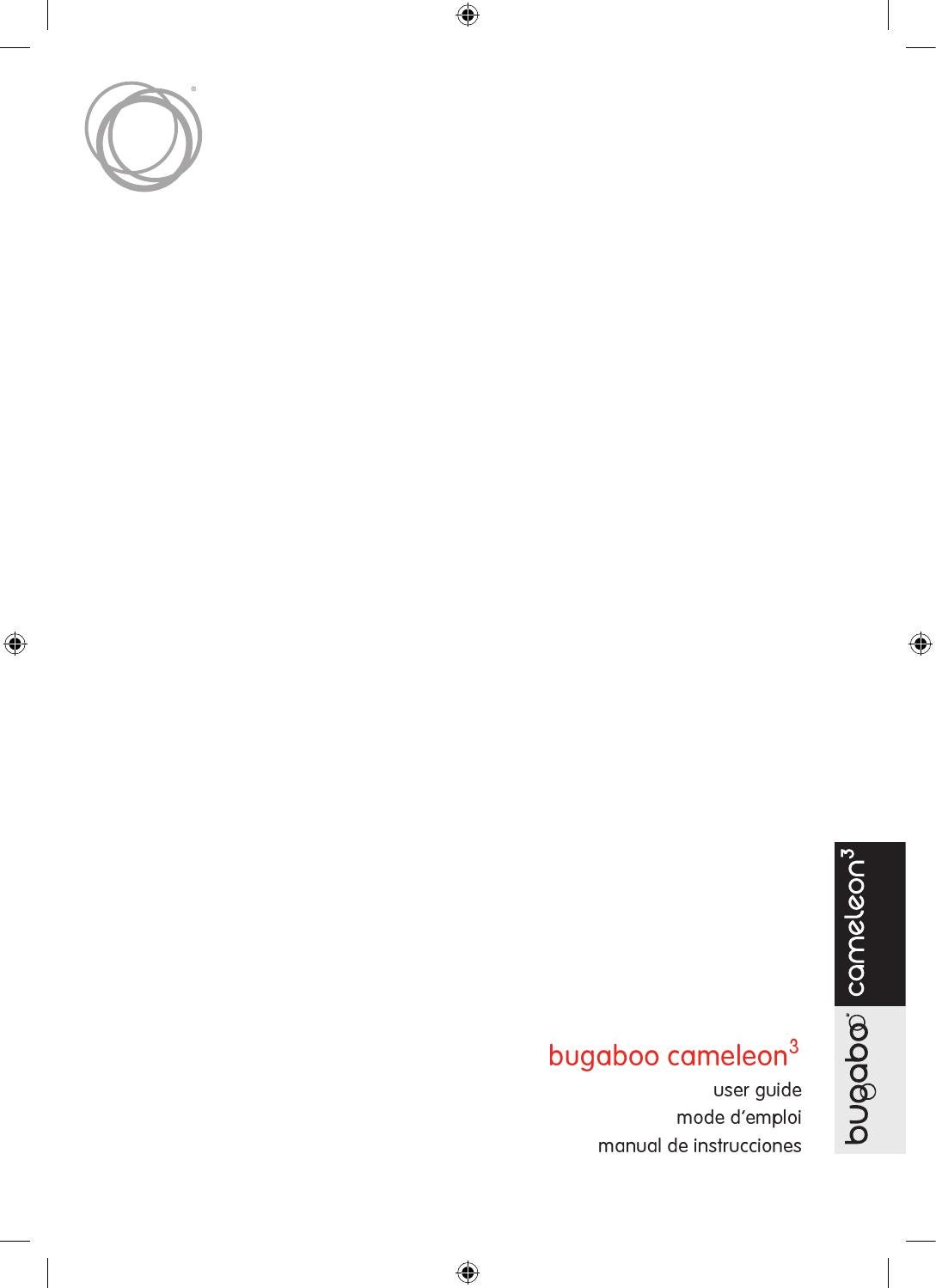 bugaboo cameleon3 - user guide - UK by bugaboo ...