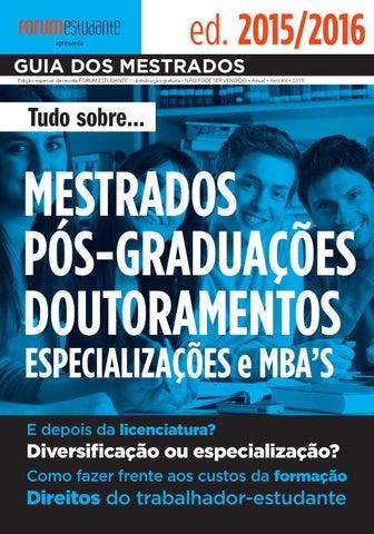 Guia dos Mestrados 2015 by Forum Estudante - issuu b5191937e491d
