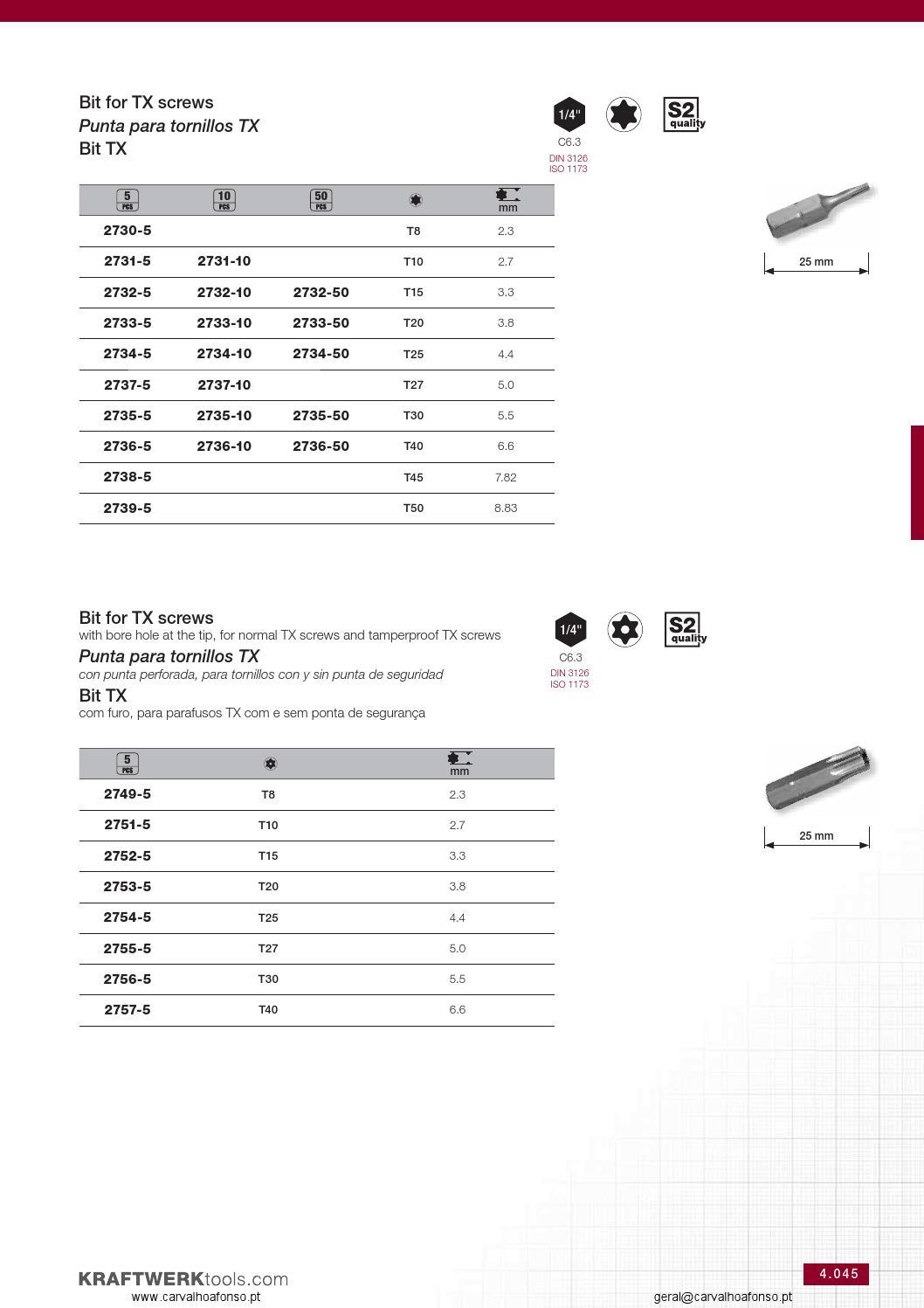 KRAFTWERK 3057-07 Extractor de tornillos 7 mm