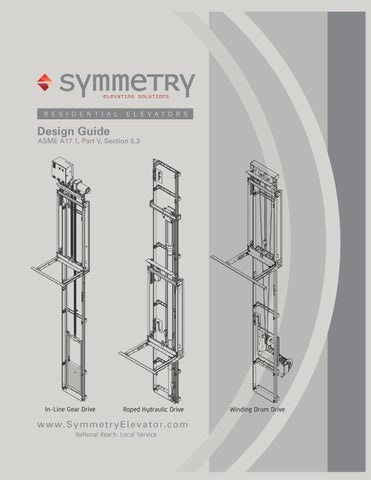Planning Guide Residential Elevator (101) by Symmetry