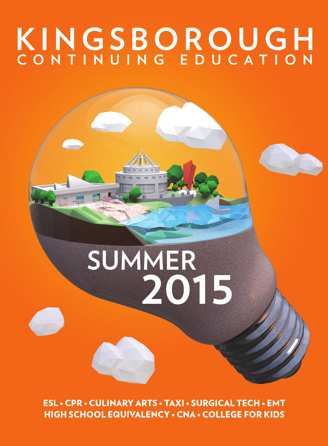 Continuing Education Summer 2015 by Kingsborough Office of ...