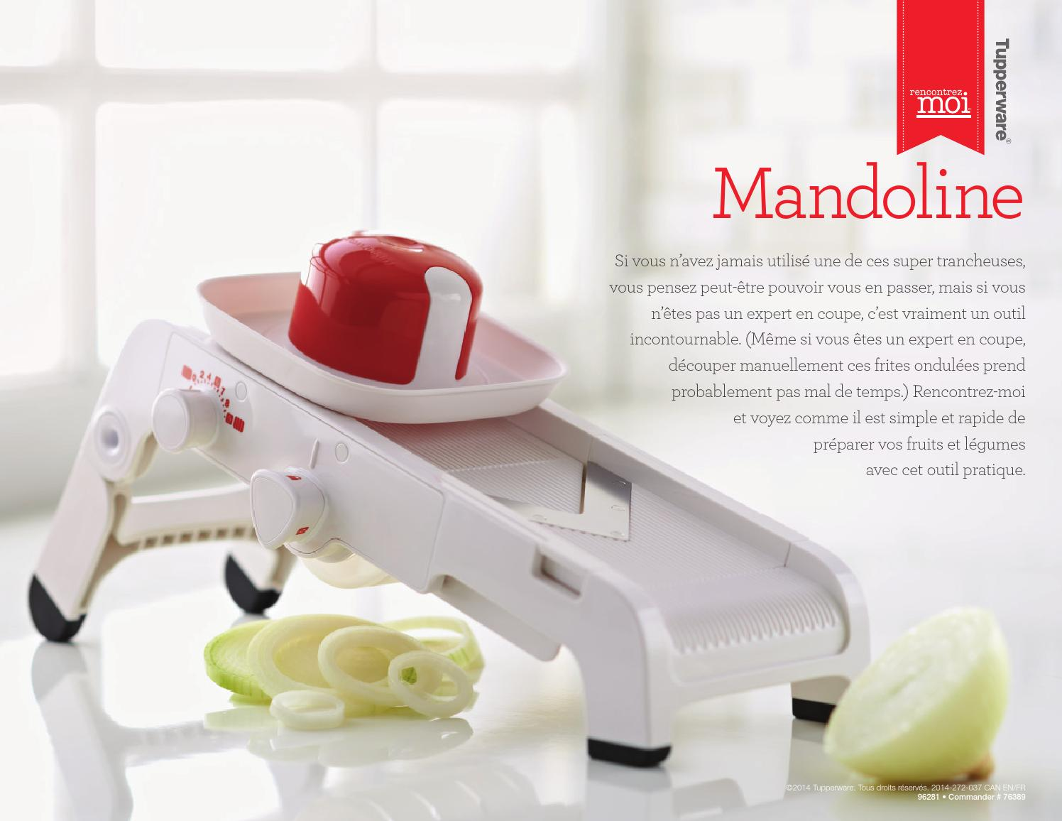 rencontrez moi mandoline by mamzelle tupperware issuu. Black Bedroom Furniture Sets. Home Design Ideas