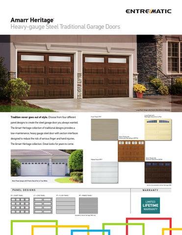 amarr heritage garage doors. amarr heritage heavy-gauge steel traditional garage doors ® n
