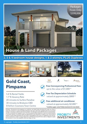 Gold Coast, Pimpama House U0026 Land Packages From $399,000 By Probity ...