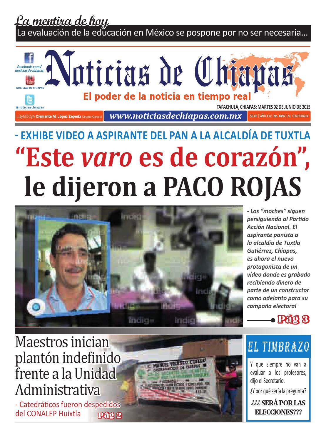 peri243dico noticias de chiapas edici243n virtual 02 de