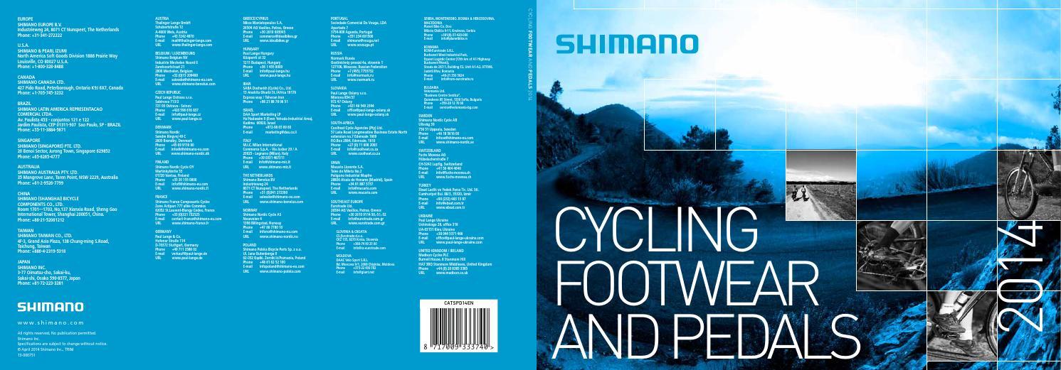 Shimano shoes 2014 by InsaniaK - issuu