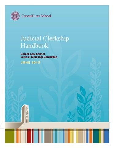 Judicial Clerkship Handbook June 2015 by Cornell Law School ...