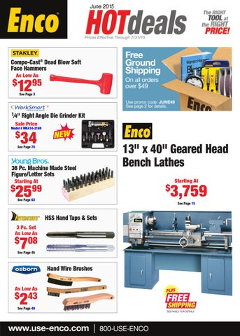 Enco June Hot Deals by Enco - issuu Wiring Enco Diagram Lathe on
