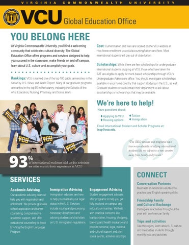 international student recruitment brochure by vcu global education
