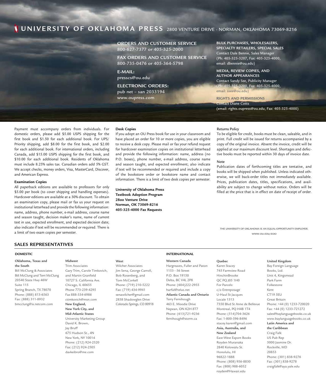 2015 Fall Trade Catalog by University of Oklahoma Press - issuu