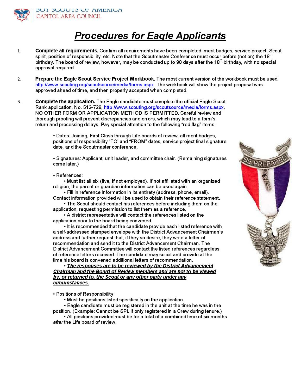 Workbooks eagle scout service project workbook : Eagle scout procedures by Paul Mayhew - issuu