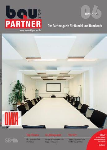 Baustoff Partner Juni 2015 By SBM Verlag GmbH   Issuu