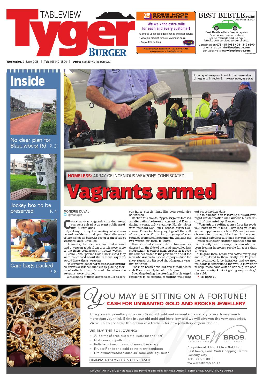 TygerBurger Table View 20150603 by Tygerburger Newspaper - issuu