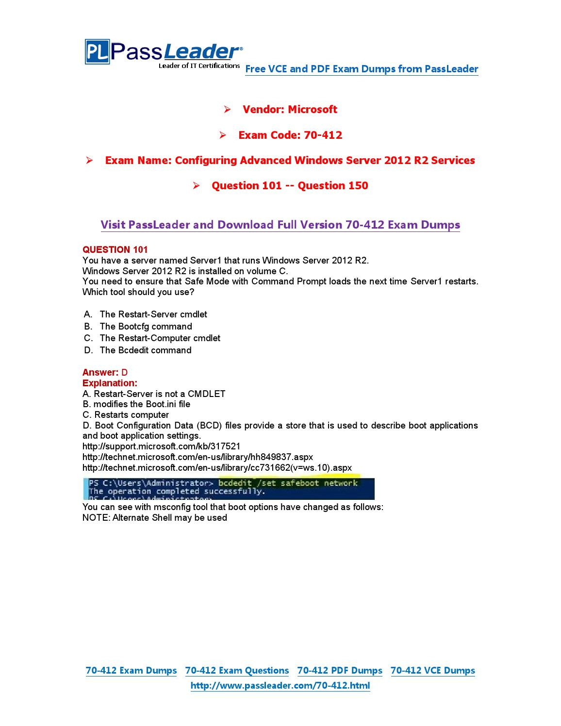 70 412 exam dumps with pdf and vce download 101 150 by 70 412 exam dumps with pdf and vce download 101 150 by passleader issuu xflitez Gallery