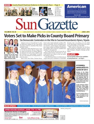 Sun gazette arlington june 4 2015 by northern virginia media page 1 fandeluxe Choice Image