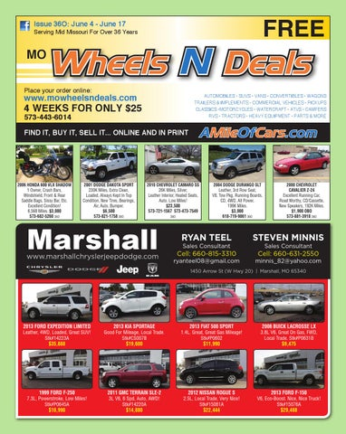 Wheels N Deals, Issue 36O by Maximum Media, Inc  - issuu