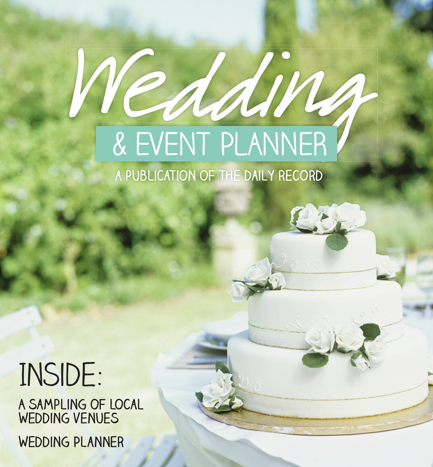2015 Wedding Event Planner By Daily Record Issuu