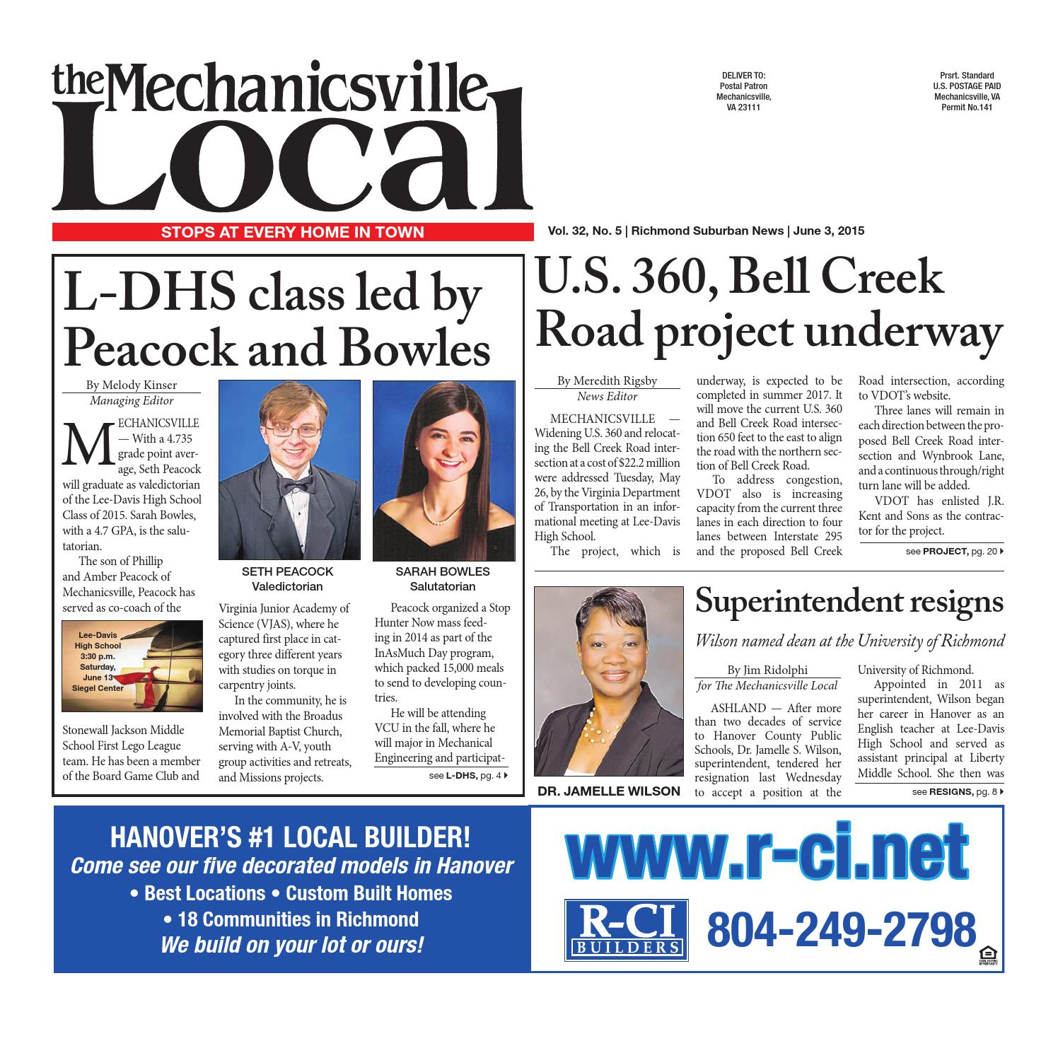 06/03/2015 by The Mechanicsville Local - issuu