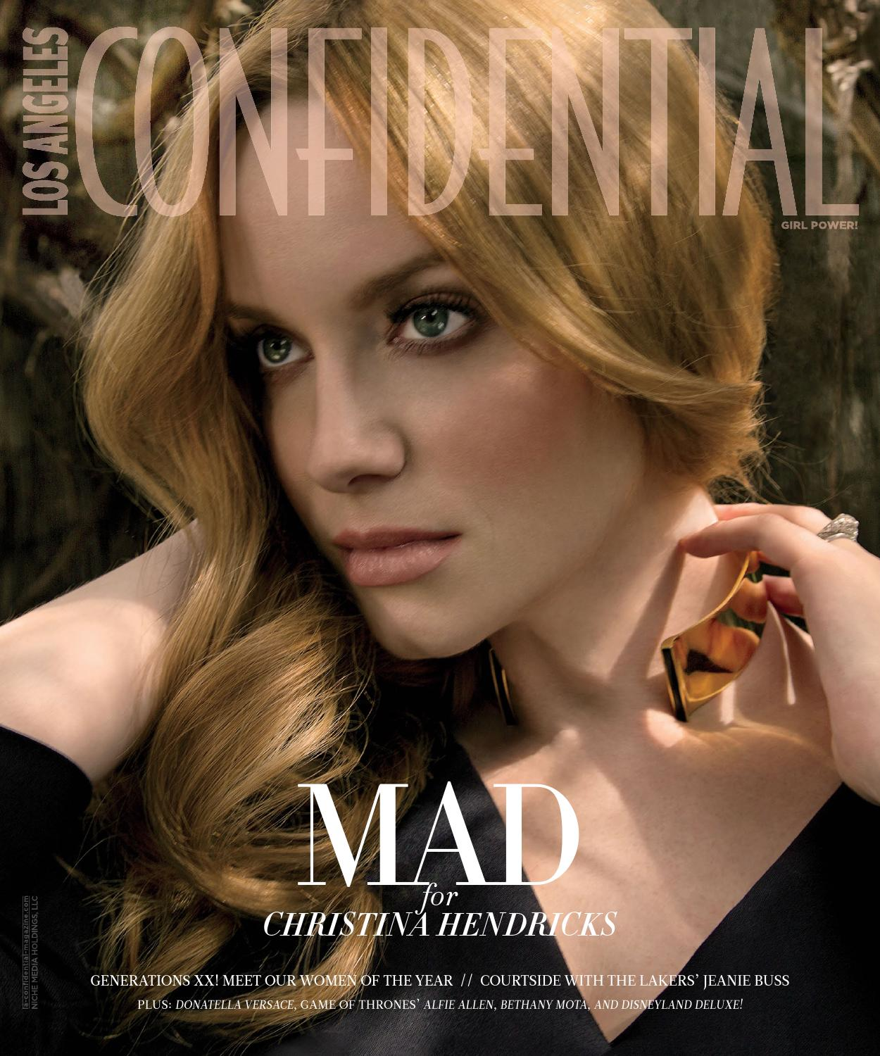 Los Angeles Confidential 2015 Issue 3 May June Christina Hendricks By Niche Media Holdings Llc Issuu