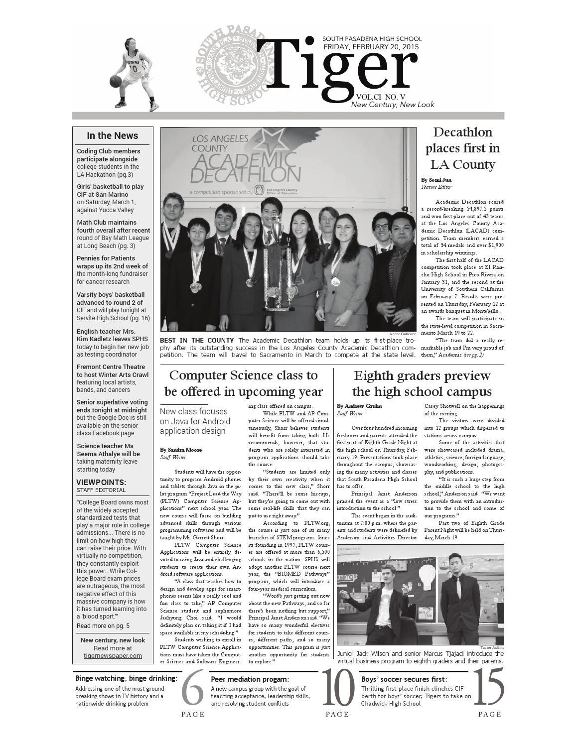 Tiger Newspaper February 2015 By Tiger Newspaper Issuu