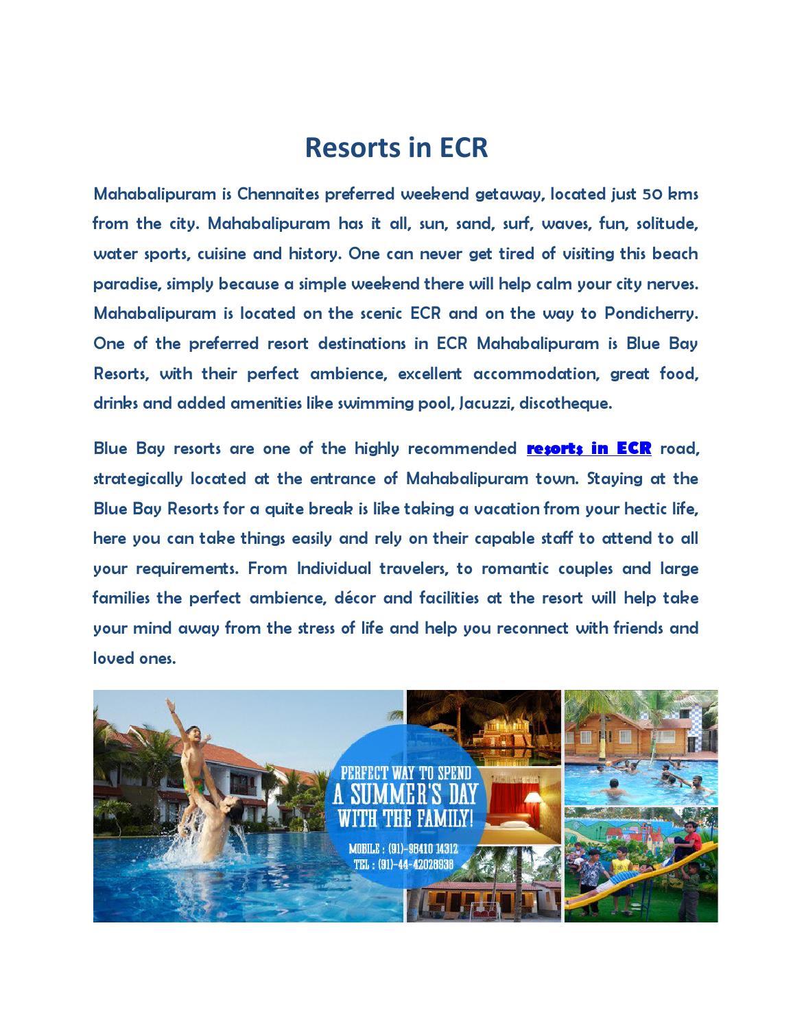 Resorts in ecr mahabalipuram chennai by - Resorts in ecr with swimming pool ...