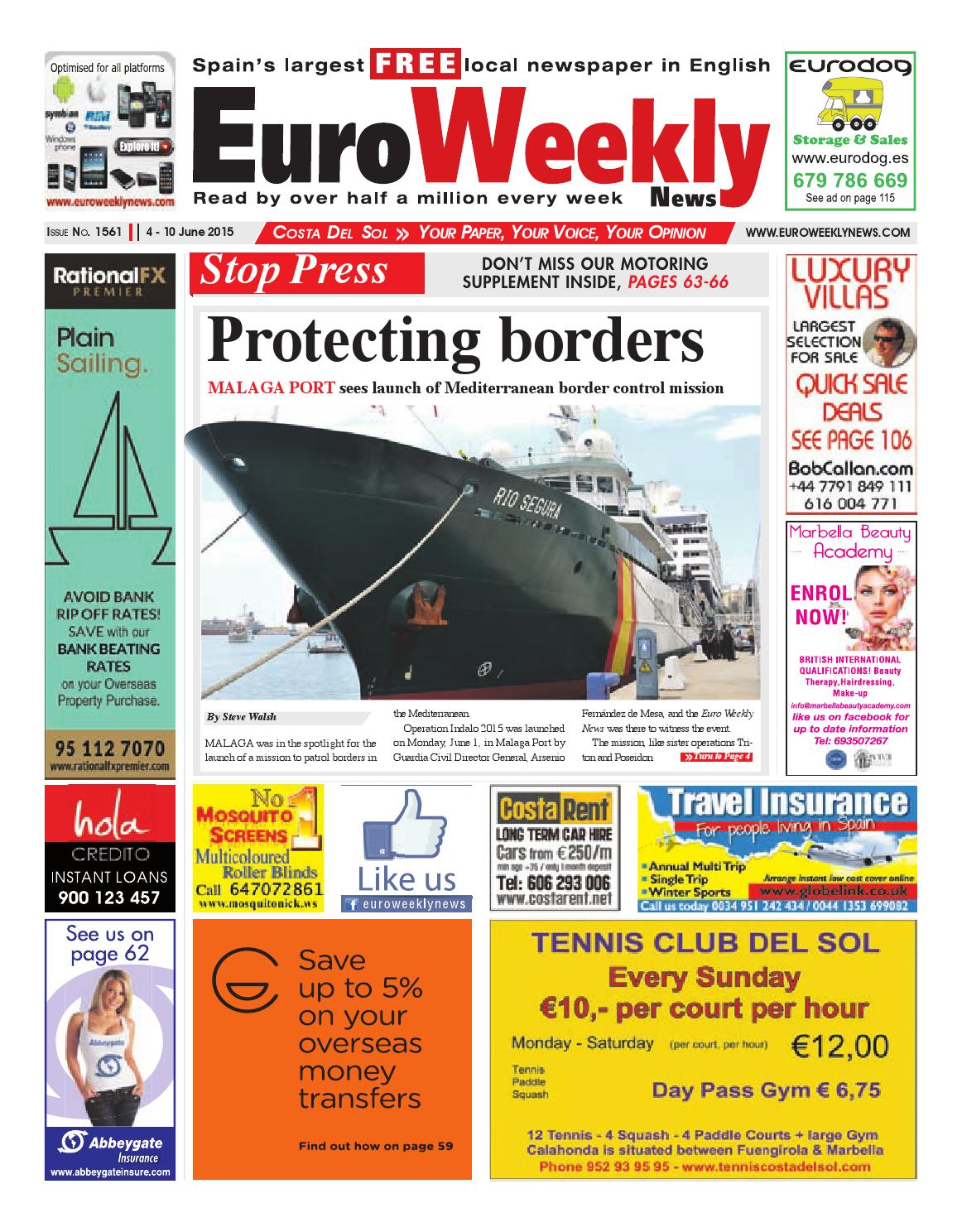 Euro weekly news costa del sol 4 10 june 2015 issue 1561 by euro euro weekly news costa del sol 4 10 june 2015 issue 1561 by euro weekly news media sa issuu fandeluxe Choice Image