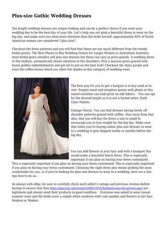 8a7e089d872 Plus-size Gothic Wedding Dresses by fadeddirective832 - issuu