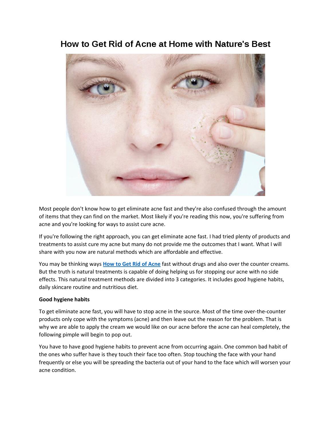 how to get rid of bad acne fast