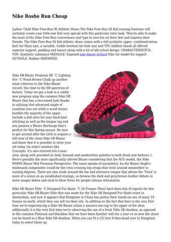 1ddb3366dbf6 Nike Roshe Run Cheap Ladies  Child Nike Free-Run 95 Athletic Shoes The Nike  Free-Run 95 Kid running footwear will certainly create your little one feel  very ...