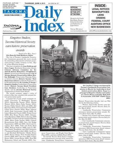Tacoma Daily Index June 10 2015 By Sound Publishing Issuu