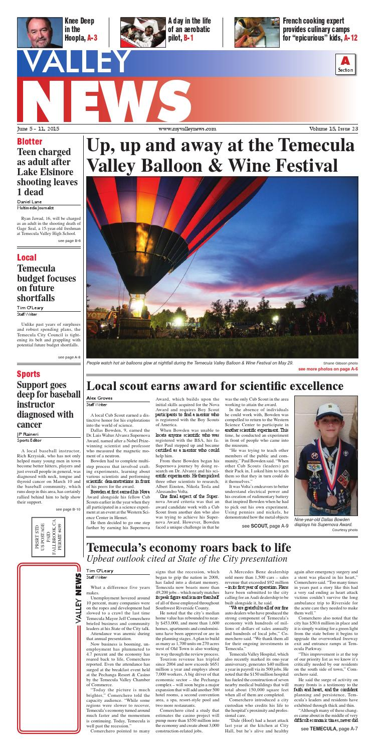 46a156cbc6228 Temecula Valley News by Village News, Inc. - issuu