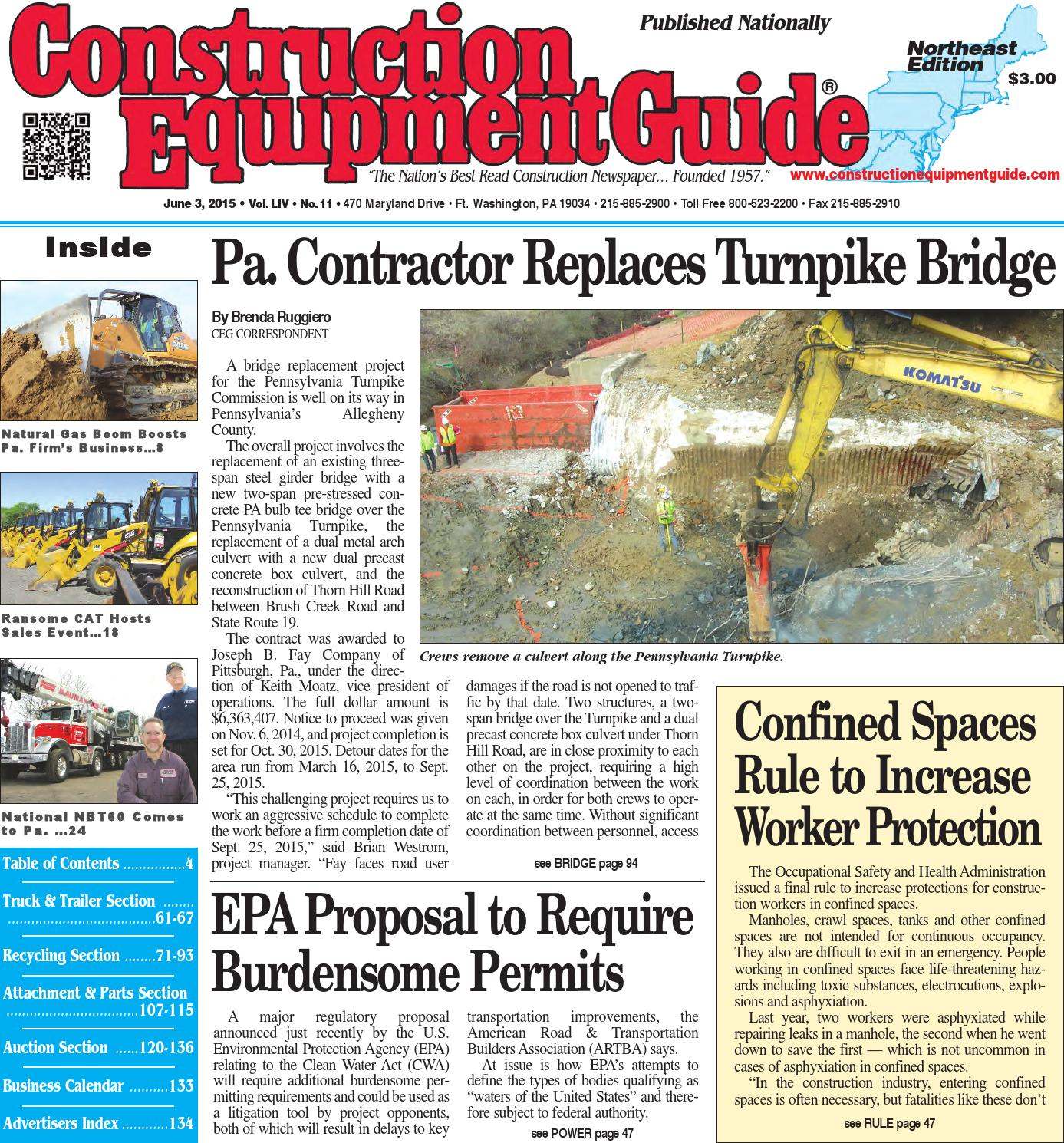Northeast 11 2015 by Construction Equipment Guide - issuu
