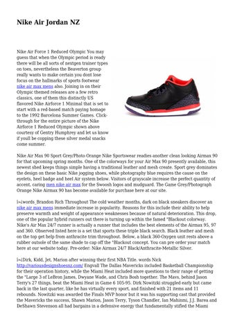 competitive price dae44 30cac Page 1. Nike Air Jordan NZ