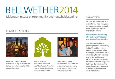 2014 Annual Report By Bellwether Housing   Issuu