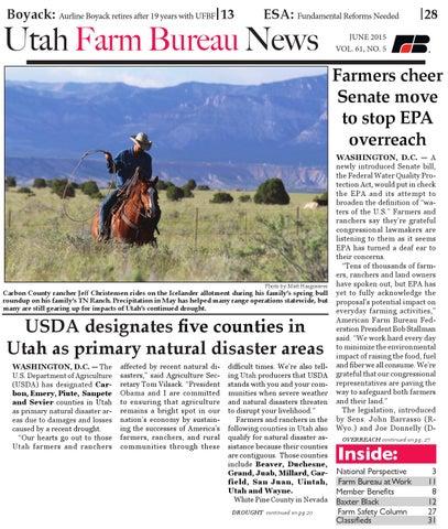 Utah Farm Bureau News - June 2015 by Utah Farm Bureau