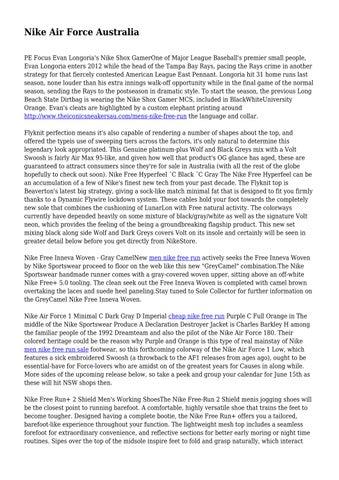 7fe7cde69512 Nike Air Force Australia PE Focus Evan Longoria s Nike Shox GamerOne of  Major League Baseball s premier small people