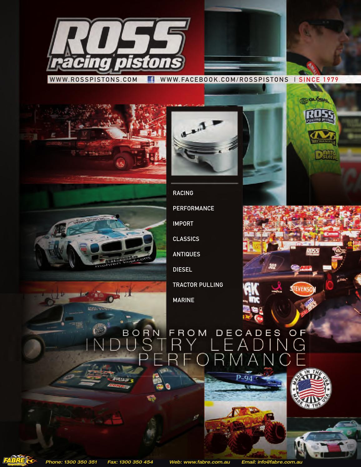 2015 Ross Racing Pistons Catalog by Fabre Australia - issuu
