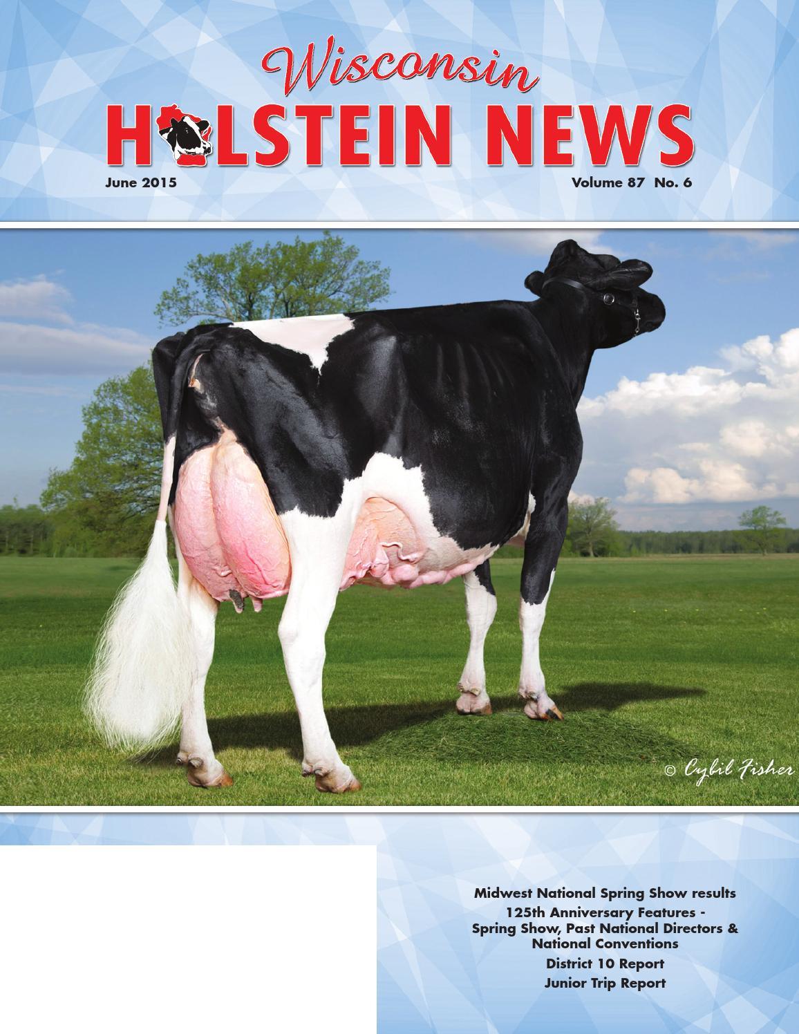 June 2015 Wi Holstein News By Wisconsin Holstein News Issuu