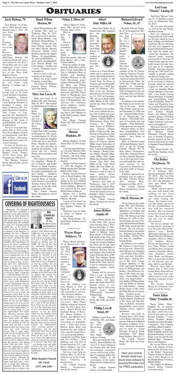 Bcp 6 7 2 obits by Clermont Sun Publishing Company - issuu