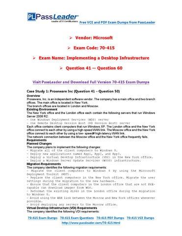 70-415 case study