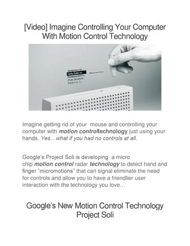 Motion control technology by Juan Florez - issuu