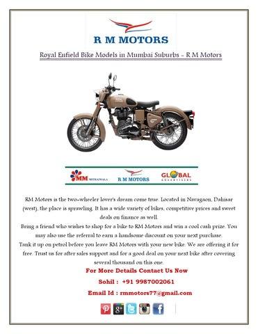 Royal Enfield Bike Models in Mumbai Suburbs - R M Motors