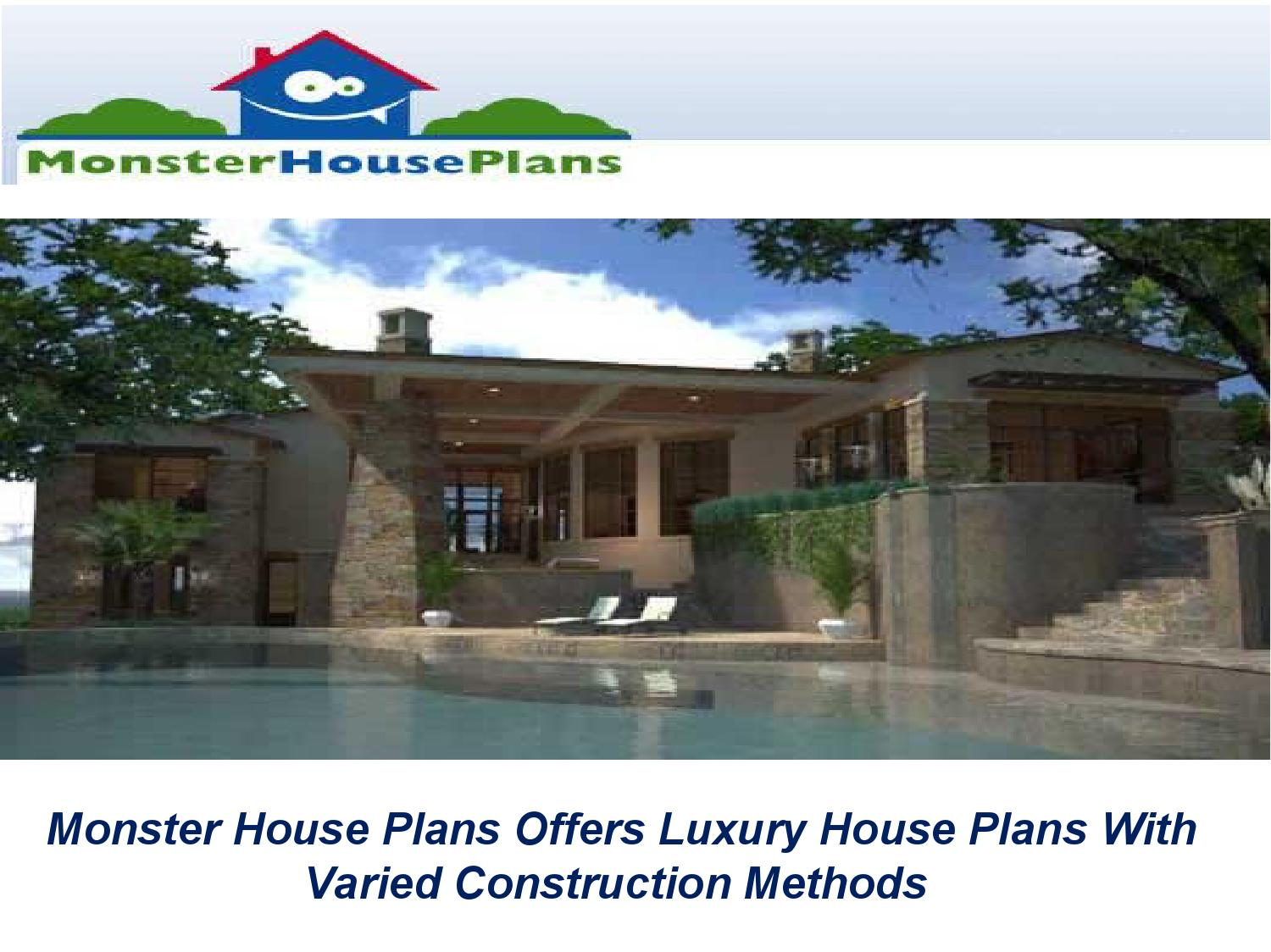 Monster house plans offers luxury house plans with varied for Monster house floor plans
