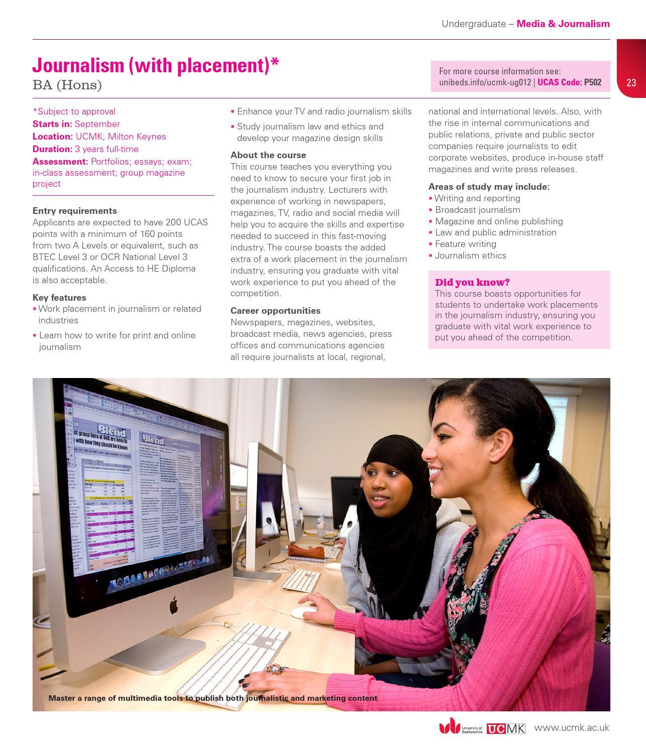 career paper broadcast journalism