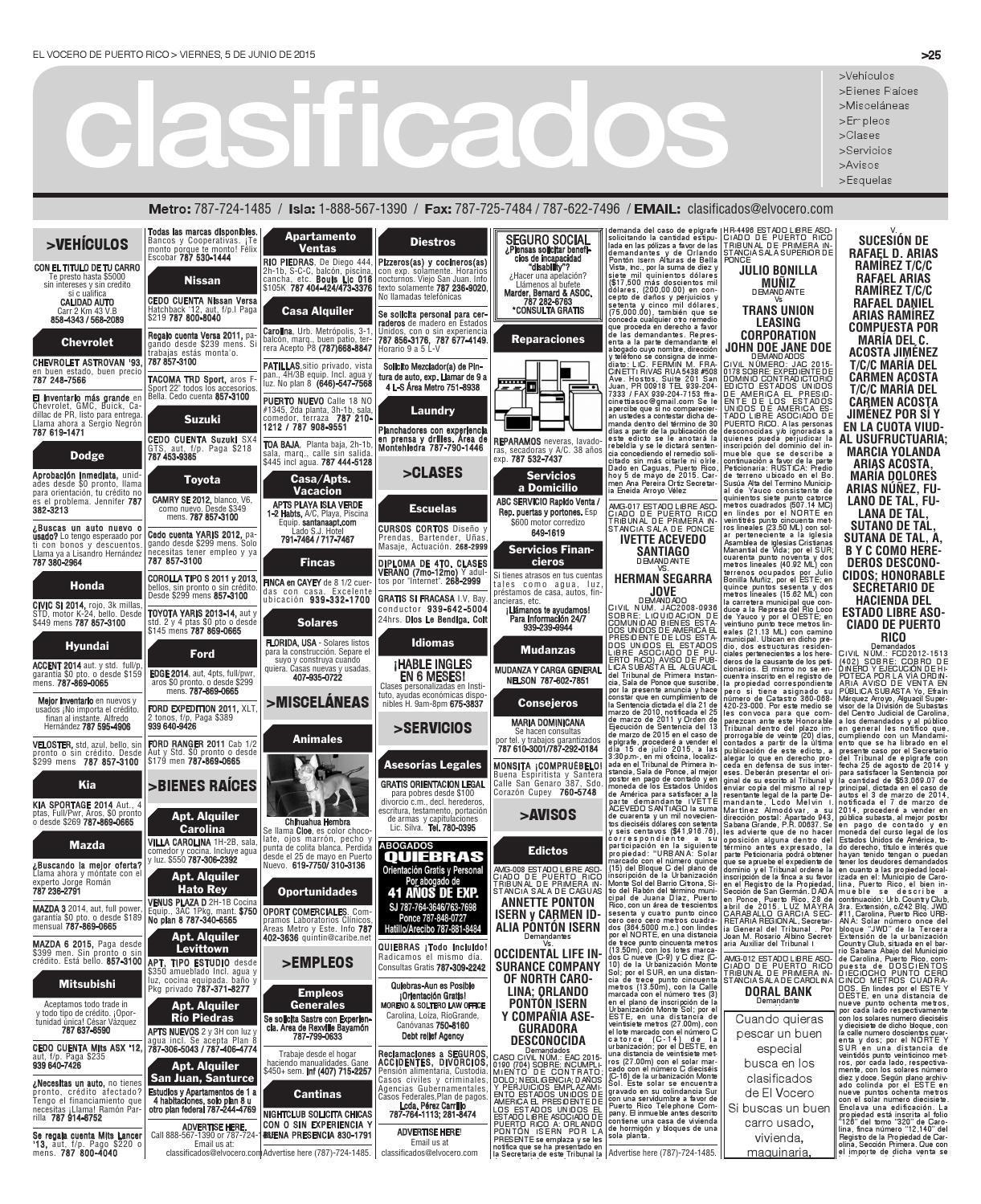 Edición 5 de Junio 2015 by El Vocero de Puerto Rico - Issuu