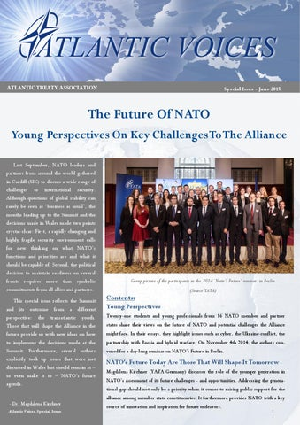 Atlantic Voices Special Issue The Future Of Nato By Atlantic