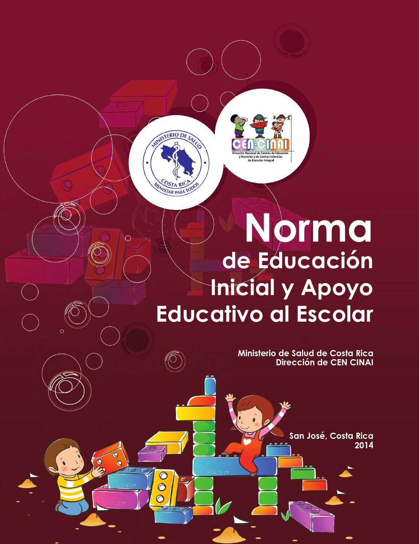 Norma de Educación Inicial y Apoyo Educativo al Escolar - 2014 by ...