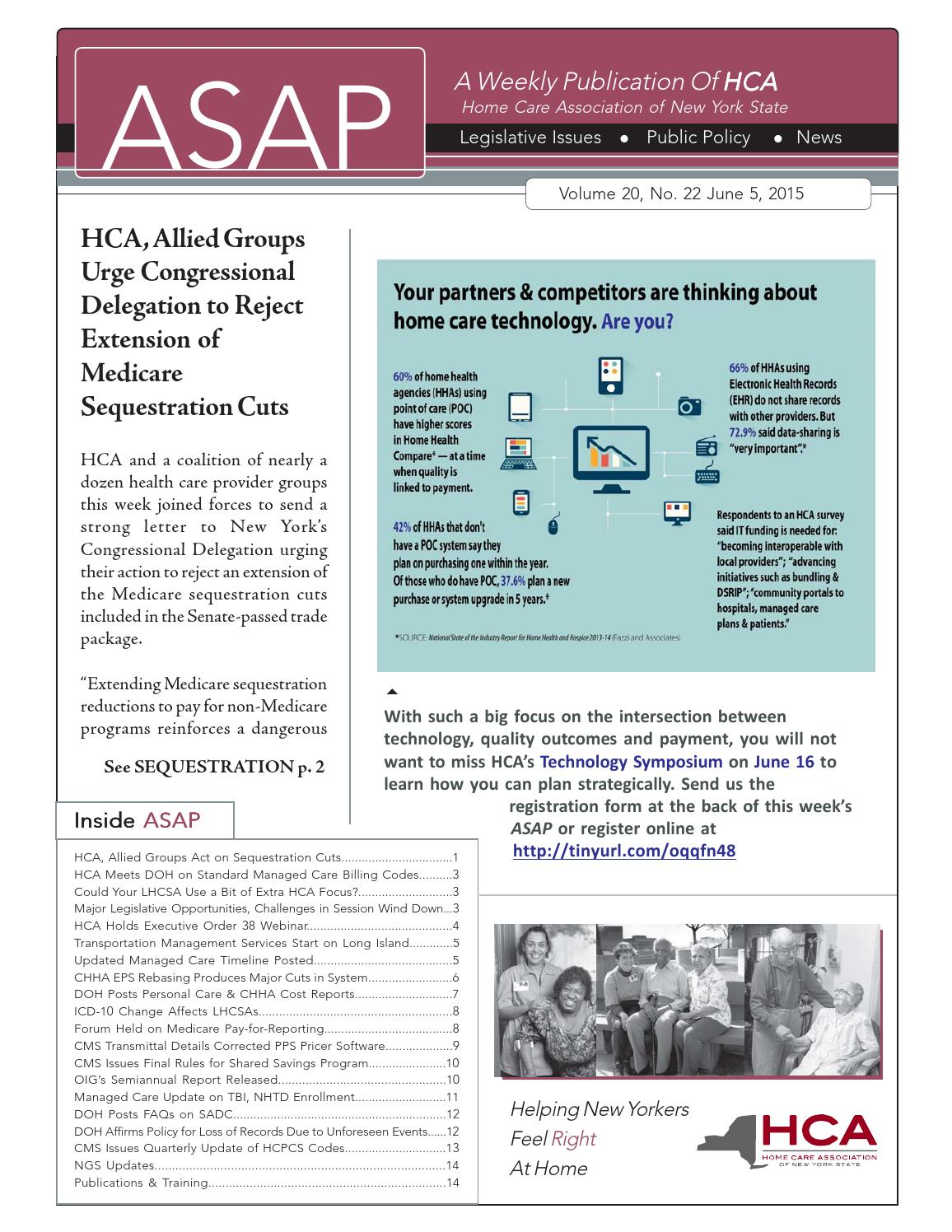 June 5 2015 Asap By Home Care Association Of New York State Issuu