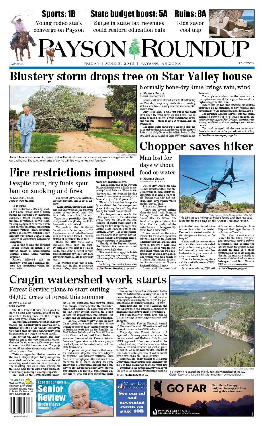 payson roundup 060515 by payson roundup issuu